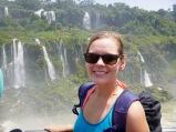 Anna at Iguazu Falls, Brazil