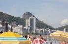 View of Sugarloaf Mountain from Copacabana beach, Rio de Janeiro
